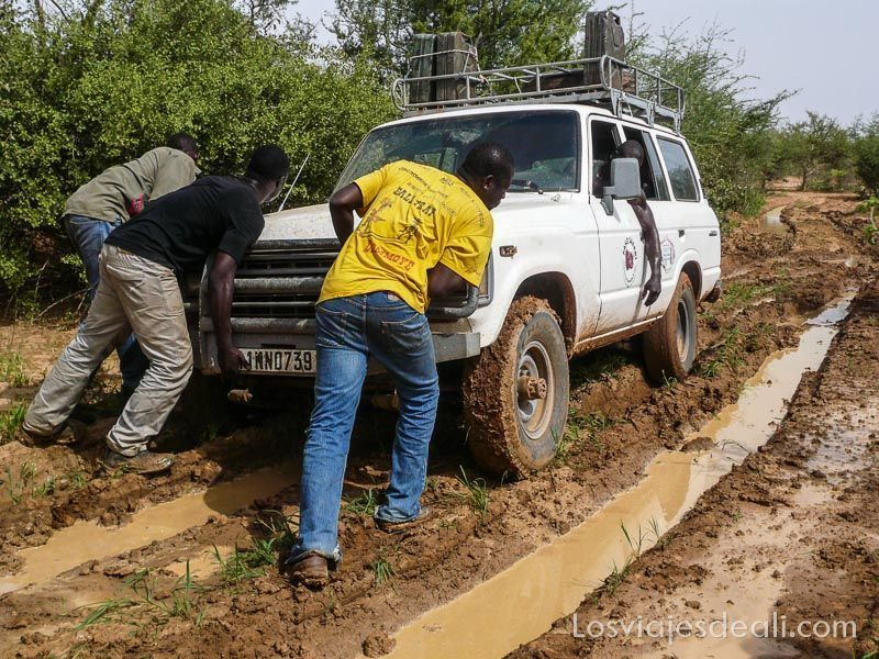 atasco en pista del Sahel