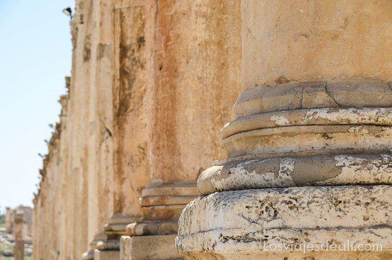 ruinas de jerash columnas