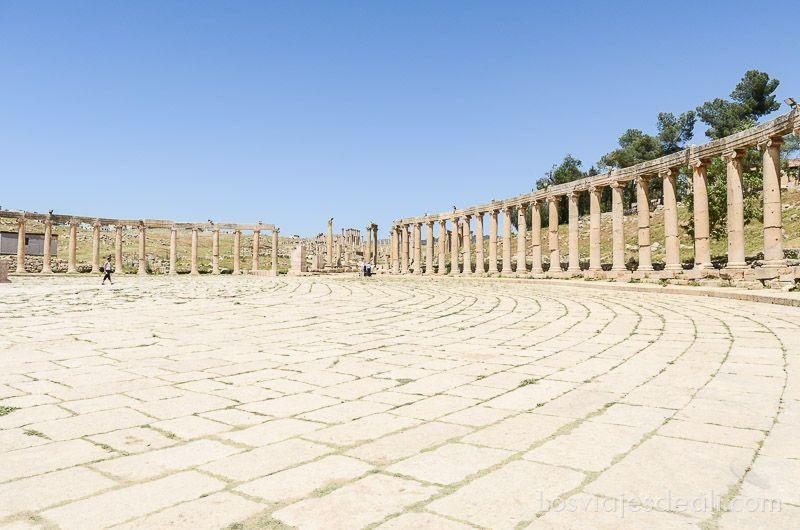 ruinas de jerash foro