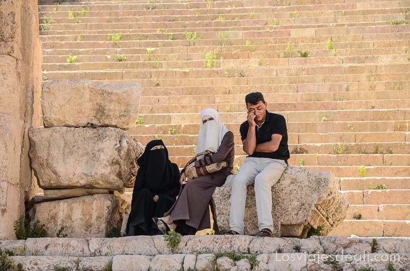 ruinas de jerash gente