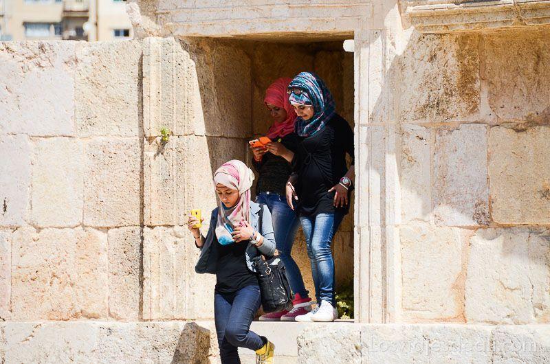 ruinas de jerash turistas