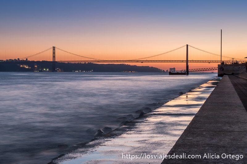 Lisboa en 20 fotos atardecer en el puente
