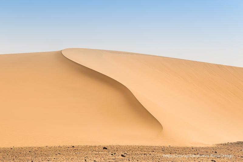 gran duna en el desierto de Sudán