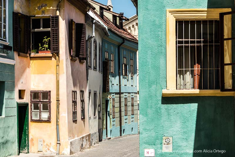 casas de colores de Sighisoara