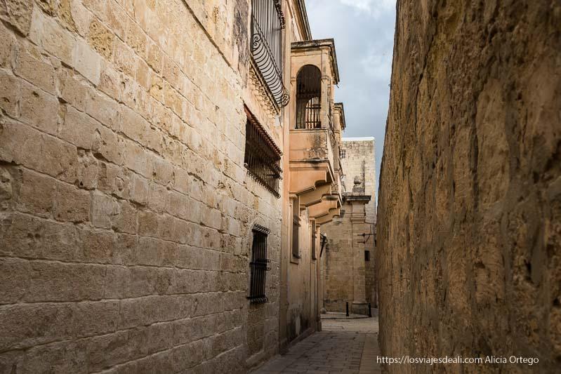 calles de la ciudad del silencio Mdina en Malta