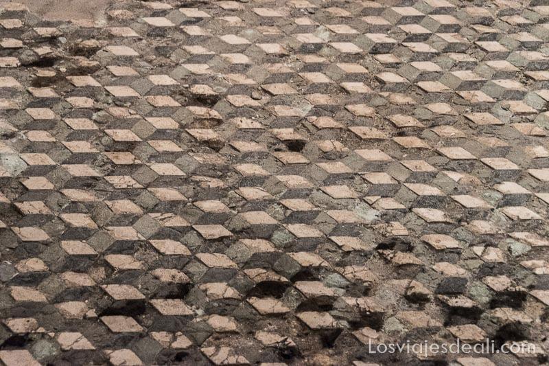 mosaico con motivos geométricos de la domus romana de Rabat en Malta