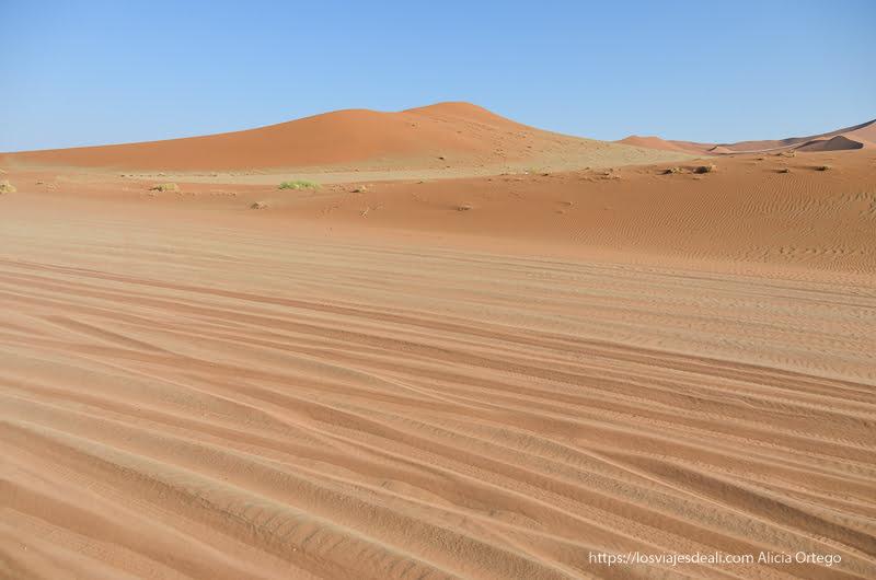 pista de arena de camino a Deadvlei Namibia