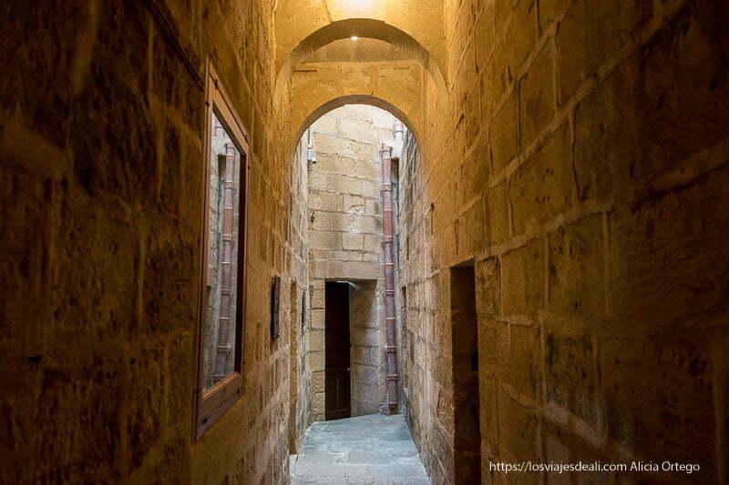 pasillo de la prisión de la ciudadela de Gozo