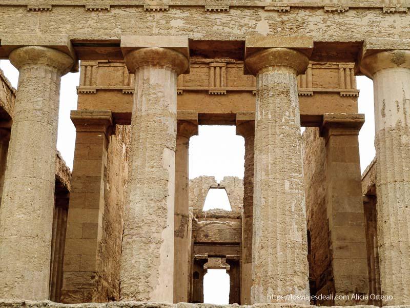 columnas templo de agrigento