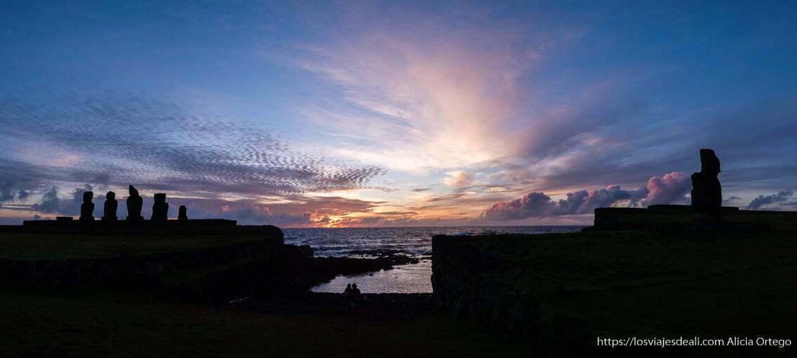cómo es viajar a Isla de Pascua ahu tahai