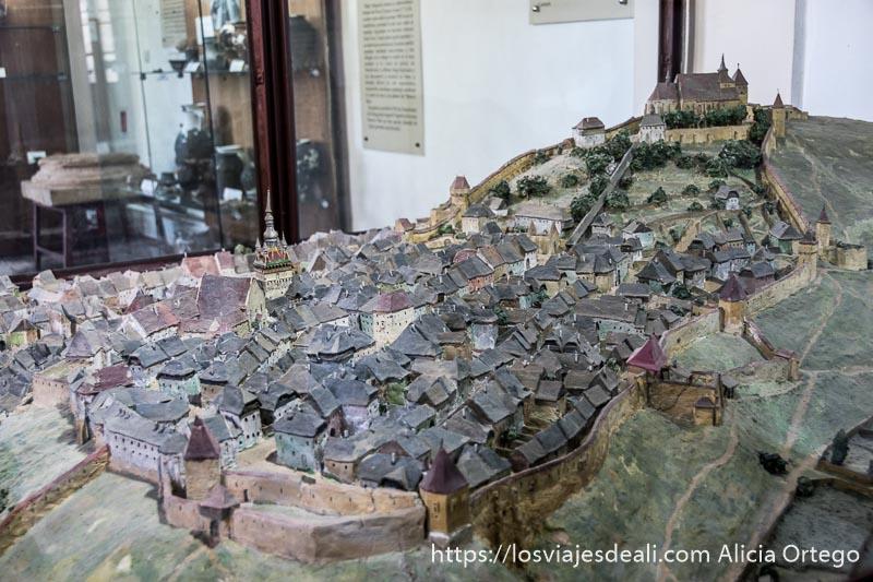 maqueta de la ciudad de sighisoara