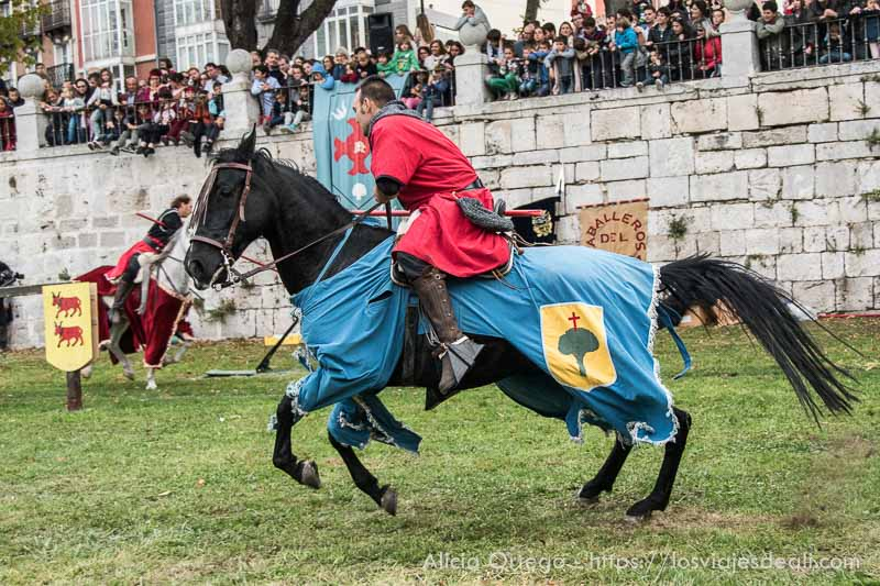 hombre a caballo en fin de semana cidiano