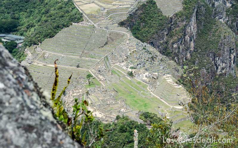 ruinas de machu picchu vistas desde las alturas