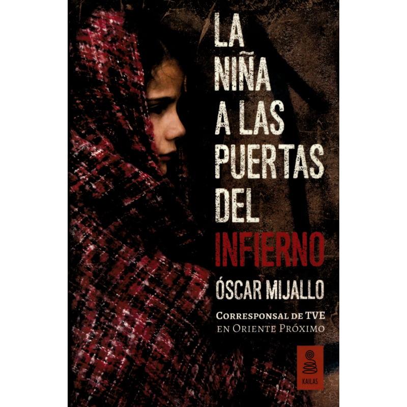 portada del libro la niña a las puertas del infierno con una niña cubierta con manta roja a cuadros