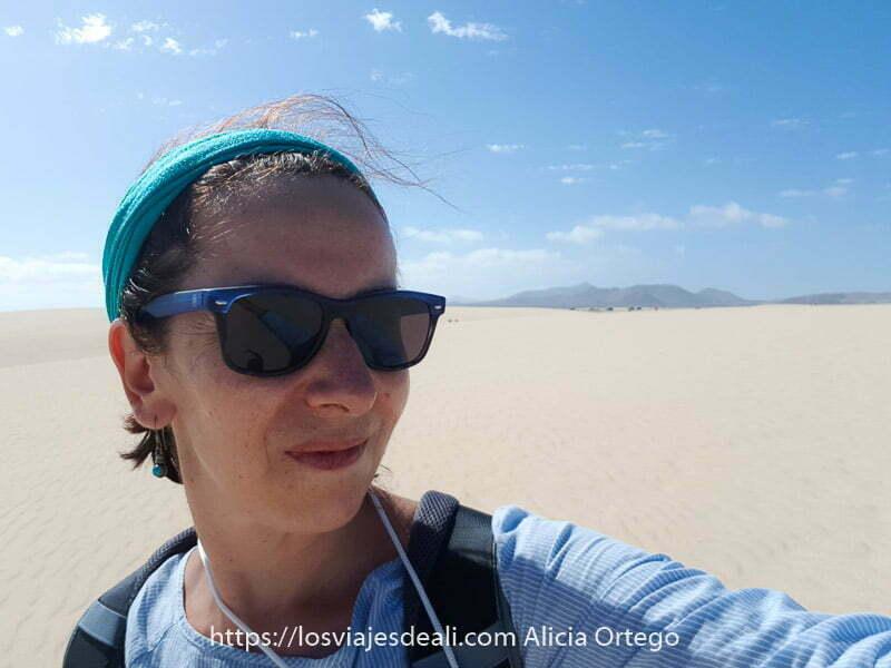 selfie en dunas de corralejo