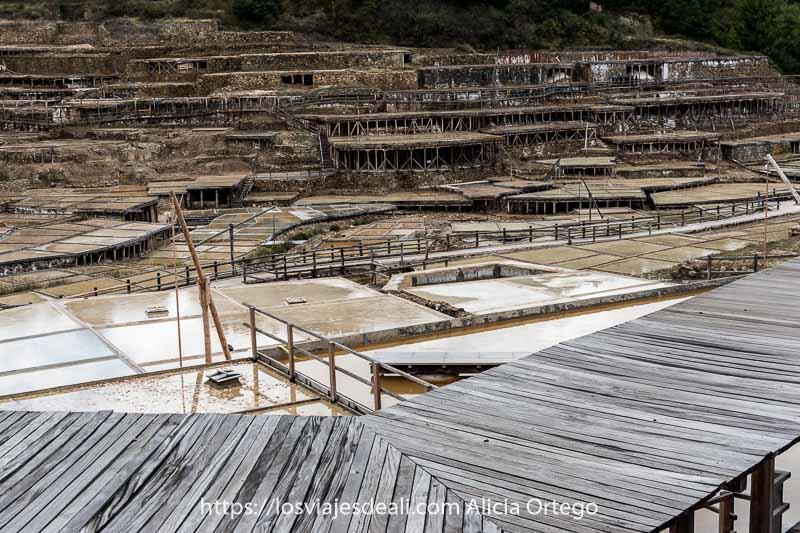 vista de las Salinas de Añana desde arriba