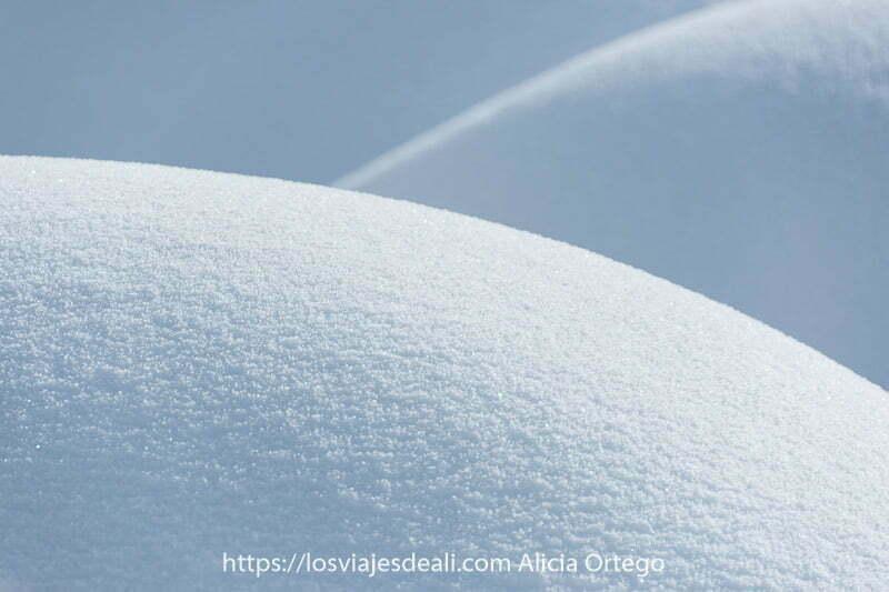 semicírculos de nieve en madrid