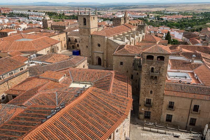 vista de Cáceres desde un campanario