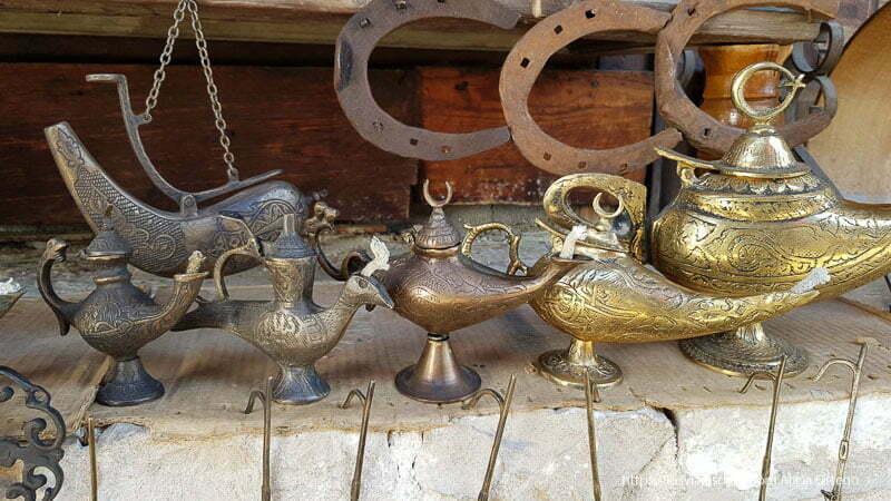 lámparas de cobre como la de aladino en krujë