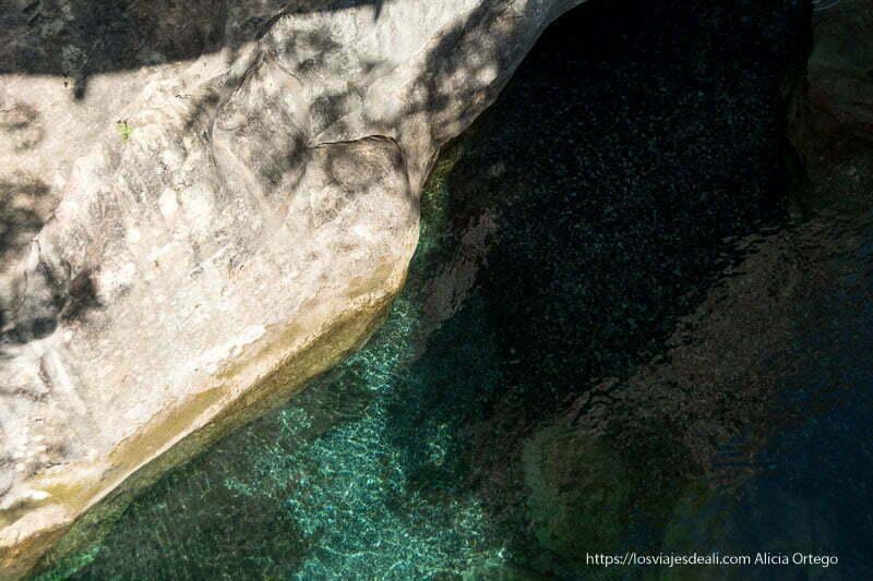 agua cristalina de color turquesa en el valle de theth