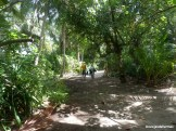 Josué y Monika por la selva