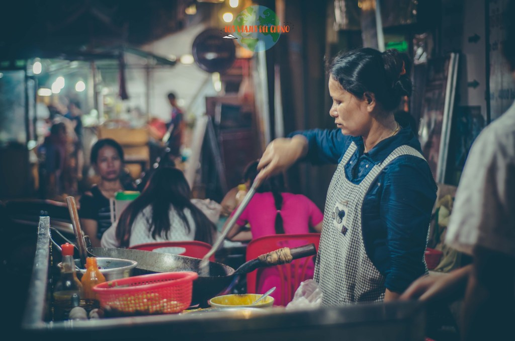 Comida callejera en Camboya