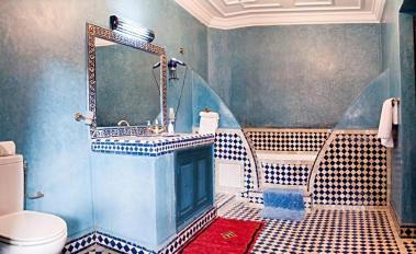 Escapada invernal a Marrakech, baño Riad Losra Marrakech