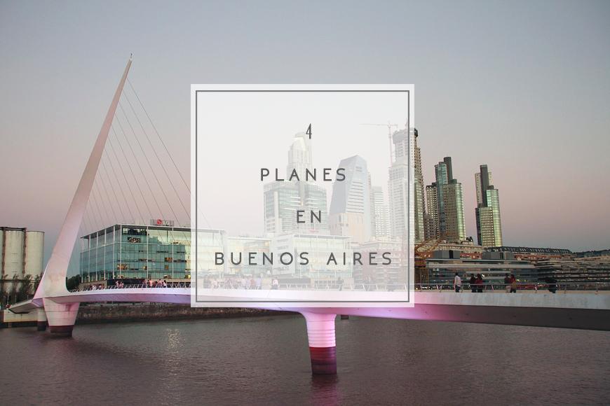 4 planes originales en Buenos Aires