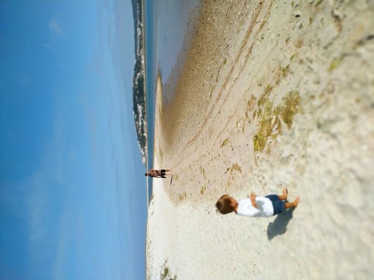 -Disfrutando en la orilla frente a las playas, Lago de Óbidos-