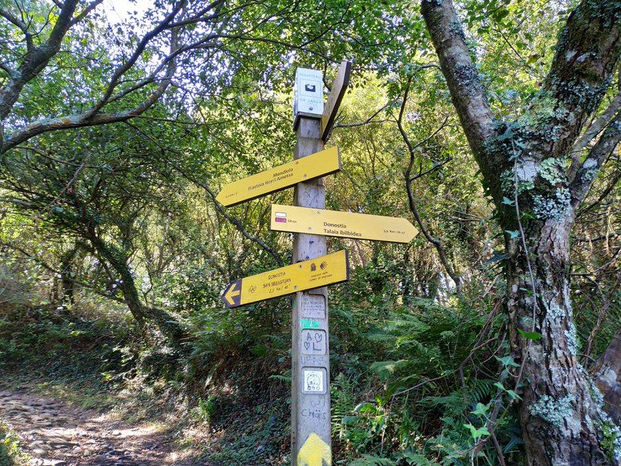 -Camino de vuelta por el camino de Santiago,Monte Ulía-
