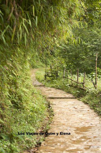 Los caminos por aquí son preciosos hacia Tien Sa