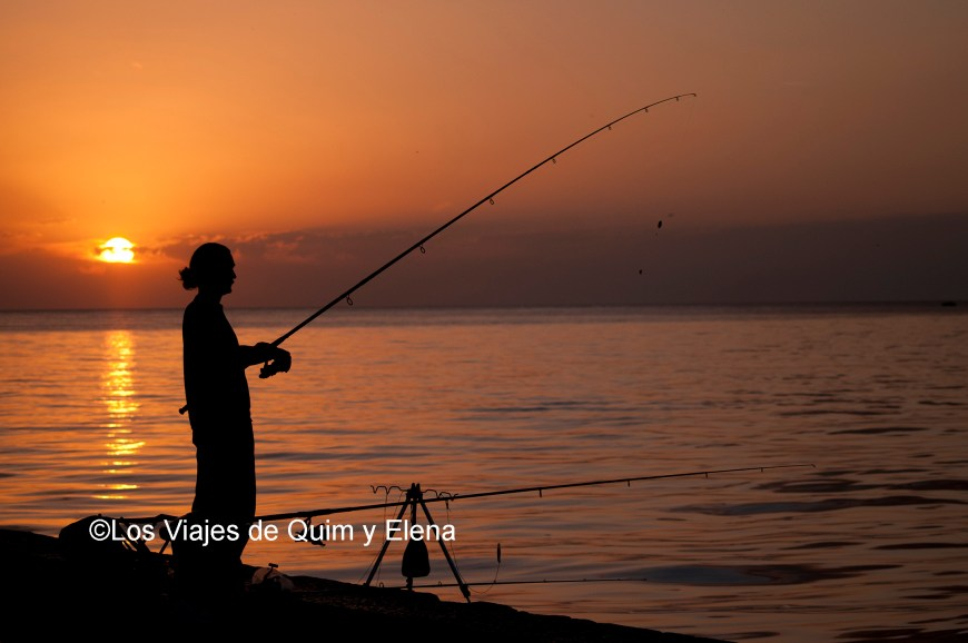 Pescando en Rovinj