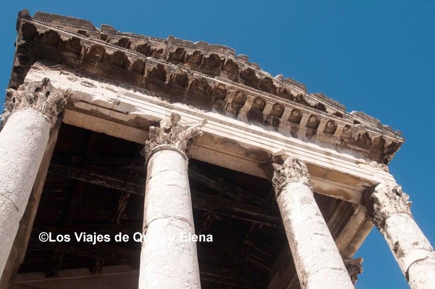 Templo de Augusto en la península de Istria