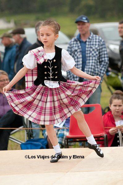 Baile tradicional en los Highland Games
