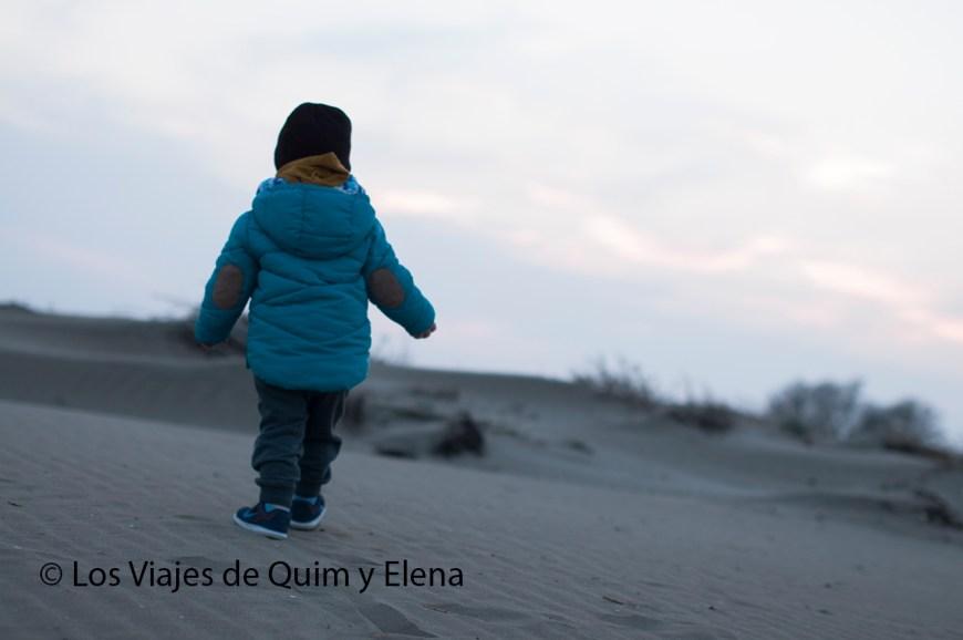 Éric en la playa de la Punta del Fangar