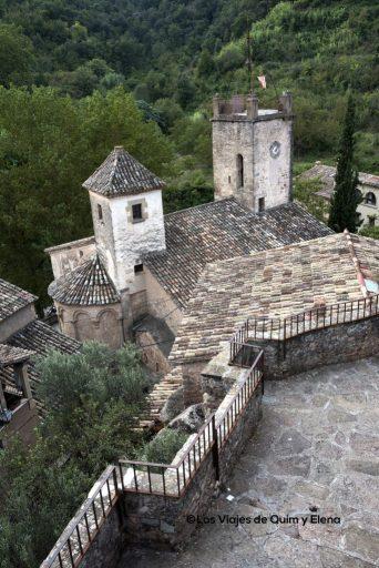 La Iglesia de Sant Martí desde el mirador en Mura