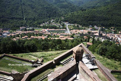 Vista de Prats de Molló desde la fortaleza