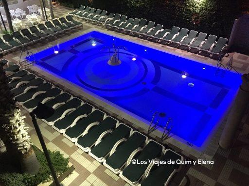 La piscina del Hotel Cleopatra en Lloret de Mar