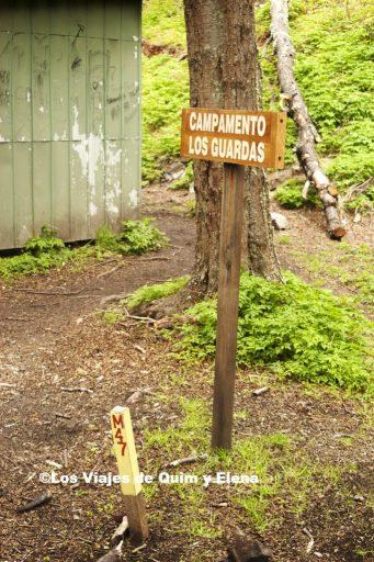 Cartel del Campamento Los Guardas
