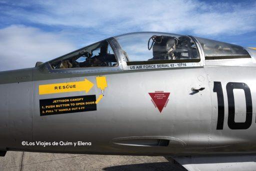 Cabina del Lockheed F-104G en el museo de la aeronáutica