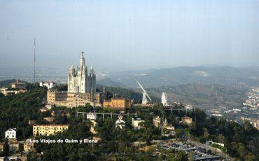 La montaña de Montjuic desde la Torre de Collserola