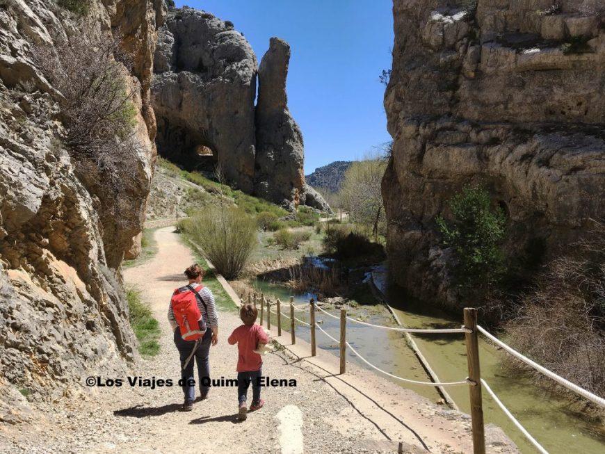 Elena y Éric disfrutando de la ruta