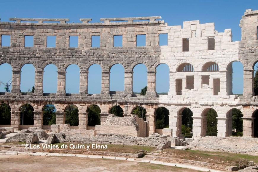 Anfiteatro de Pula, ruta por Croacia