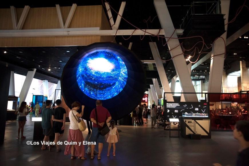 Recreación del Big bang en el Cosmocaixa de Barcelona