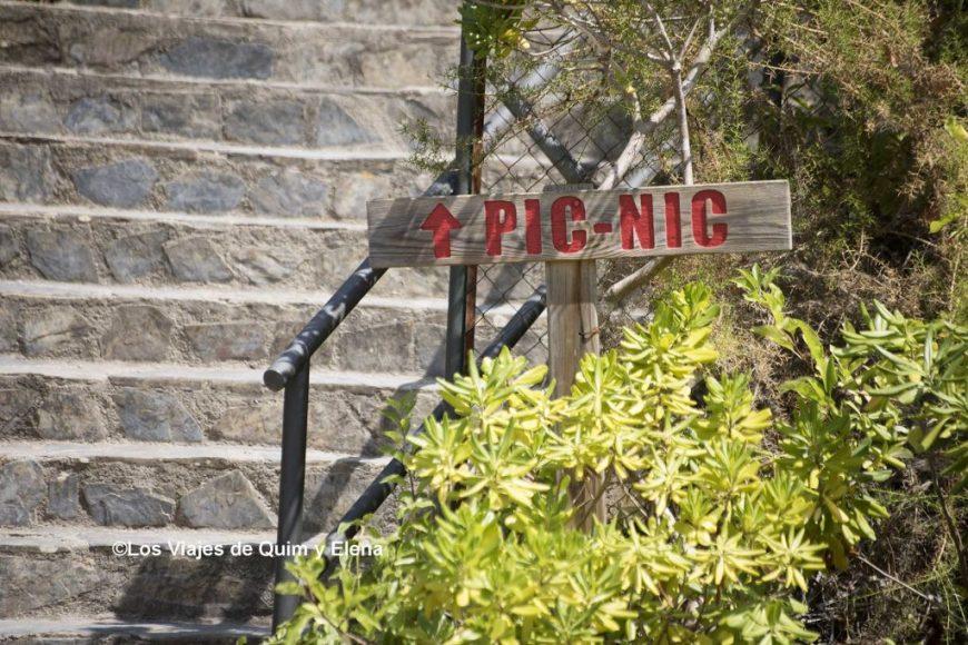 Acceso a la zona de Pícnic