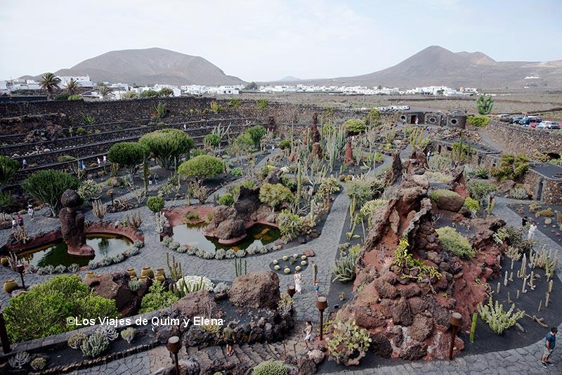 Panorámica de El jardín de cactus