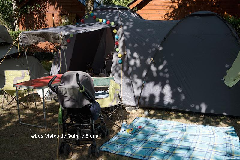 La tienda en el Camping Verneda