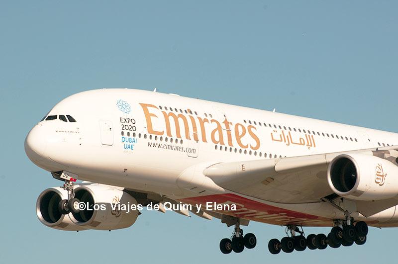 El A380 aproximándose mientras hacemos spotting en Barcelona