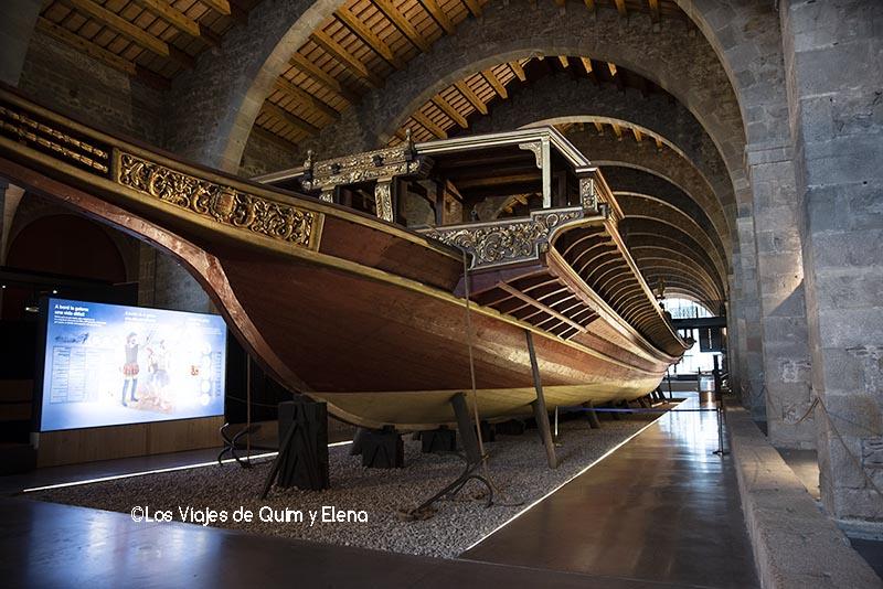Galera dentro del Museo Marítimo