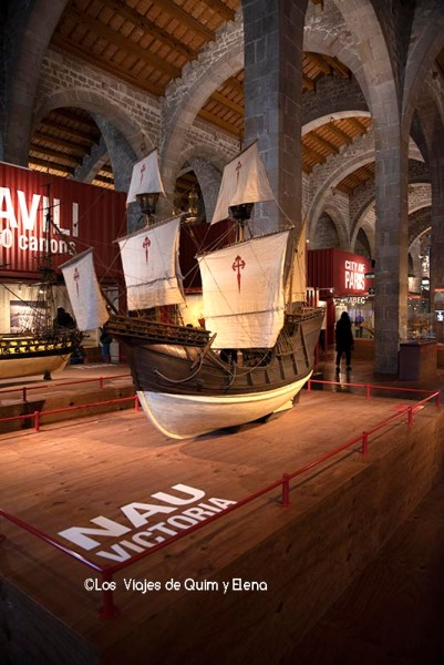 Maqueta de la Nau Victoria en el Museu Maritim